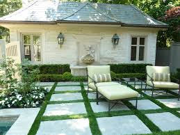 patio pavers with grass in between. Unique With Outdoor Checkerboard With Pavers  11 Inspiring Garden Looks To Steal The  Home And Garden Blog To Patio Pavers With Grass In Between