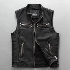 2019 harley motorcycle genuine leather vest vintage plus size cow skin motorcycle genuine leather vest from combocai 516 05 dhgate com