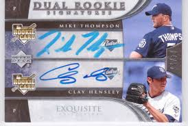 Clay Hensley Mike Thompson 2006 Exquisite Collection Dual Signatures Auto  RC /55 | Heroes Sports Cards
