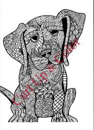 Small Picture Download Printable adult coloring page puppy dog instant download