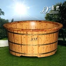 wooden bathtub for cedar solid wood bathtub in welcomed wood fired hot tubs for