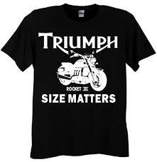 triumph rocket iii tee shirt size matters teeshack