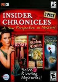Metacritic game reviews, insider tales: Insider Chronicles 3 Pack Pc Cd Missing Rome Stolen Venus Secret Casanova Game Ebay