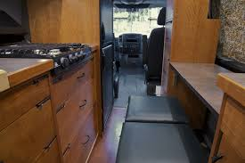 sprinter rv conversion by allen sutter looking towards the front