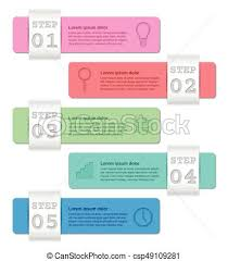 Infographics Templates 5 Steps Business Concept