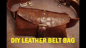 diy leather belt bag