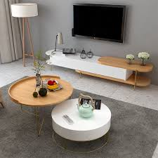 tv cabinet and round coffee table