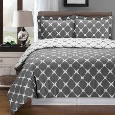 gray and white bloomingdale 3 pc king cal king duvet cover set 100