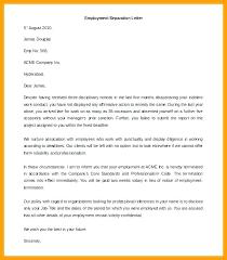 Ending Employment Letter Template