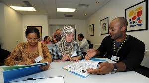 rescue lives in baltimore md international rescue committee irc refugees learning english as part of employment readiness training in the united states