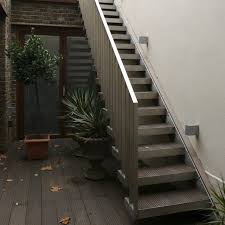 Exterior Design : Narrow Outside Metal Stair Design How to Build Outside  Stairs Deck Steps Plans