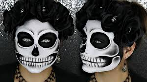 black and white detailed skull makeup tutorial beautybyjosiek you