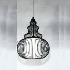 cage light industrial hanging pendant light with shade wire net metal cage for indoor lighting cage