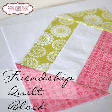 Friendship Quilt Block — SewCanShe | Free Sewing Patterns for ... & Friendship Quilt Block — SewCanShe | Free Sewing Patterns for Beginners Adamdwight.com