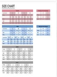 Fera Size Chart