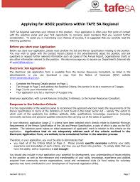 Skills Relevant To The Position S You Are Applying For Applying For Aso2 Positions Within Tafe Sa Regional Tafe Sa