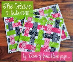 Looking for quilting project inspiration? Check out The Weave a ... & Looking for quilting project inspiration? Check out The Weave a Quilt  Pattern Tutorial by member Adamdwight.com