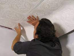 How to Hang Wallpaper on a Ceiling ...