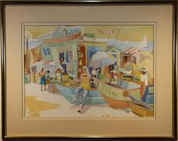 Rowena Smith, 20th C. Watercolor of a Fish Market - Jul 28, 2019 | Helmuth  Stone Gallery in FL