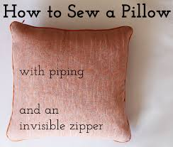 how to sew a pillow with piping and