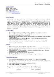 Document Controller Cv Word Format Imzadi Fragrances