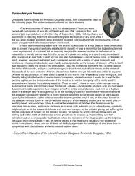 Frederick Douglass Narrative Syntax Analysis