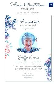 Funeral Templates Free Simple Celebration Of Life Template Free Funeral Bookmark Design Classic