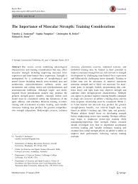 pdf the importance of muscular strength considerations