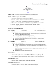Resume Summary Examples For Customer Service Customer Best Solutions