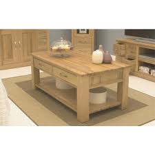 mobel light oak coffee table with