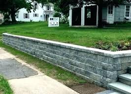cinder block retaining wall cost retainer calculator costs estimate simple precast concrete