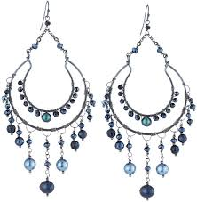 nakamol metal beaded chandelier earrings montana mix