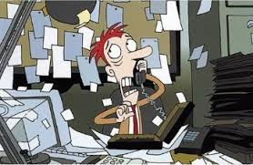 Image result for cartoon business office stressed