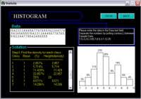 statistics problem solver statistics tutorial software statistics tutorial solving and drawing histogram