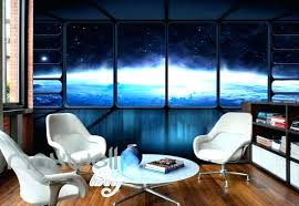 spaceship themed room space room decor spaceship view of from art wall murals wallpaper decals prints ideas outer decorating outer space themed baby room
