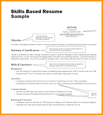 Skill Based Resume Template Thrifdecorblog Com