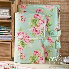 A5 Binder Mint Floral Websters Pages Color Crush Free Washi Tape