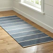 bold blue wool blend striped runner rug reviews crate and barrel dhurrie rugs cleaning