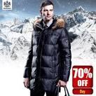 Купить мужскую куртку пуховик на алиэкспресс