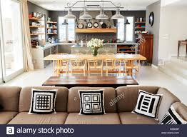 Kitchen Lounge Diner Design Home Interior With Open Plan Kitchen Lounge And Dining Area