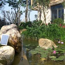 5w solar water pump landscape pool garden solar fountains solar powered decorative outdoor water fountains for