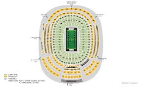 Lambeau Seating Chart Green Bay Packers Home Schedule 2019 Seating Chart