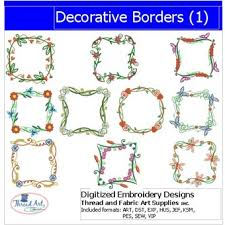 Decorative Designs For Borders Machine Embroidery Designs Decorative Borders100 2