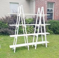 Wooden Ladder Display Stand Farmhouse Decor Double Ladder Shelf 100 ft Wood Ladder A 54