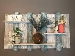 extra wide pallet shelf teal wood shelf