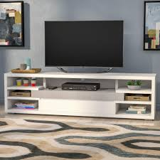 Ebern Designs Nyle Glass 60 Tv Stand Atoll Solid Wood Tv Stand For Tvs Up To 78 Inches