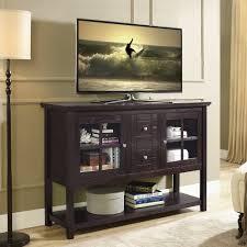 Flat Screen Tv Console Bedroom Height 53 Modern Espresso Flat Screen Tv Stand Tvstandcom