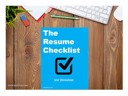 learn about resumes the smart bold job search the resume checklist
