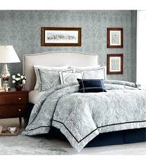 tommy hilfiger mission paisley comforter set full queen navy blue home pale bed