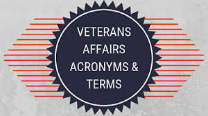 Veterans Affairs Acronyms Terms
